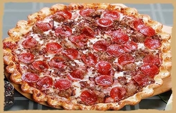 Picture of Meaty Extravaganza Pizza-Dawg Bone